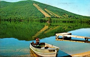 Maine Pleasant Mountain Reflected In Moose Pond