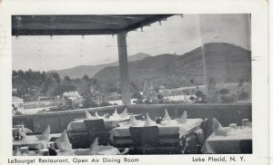 LAKE PLACID, New York, PU-1951; Le Bourget Restaurant, Open Air Dining Room
