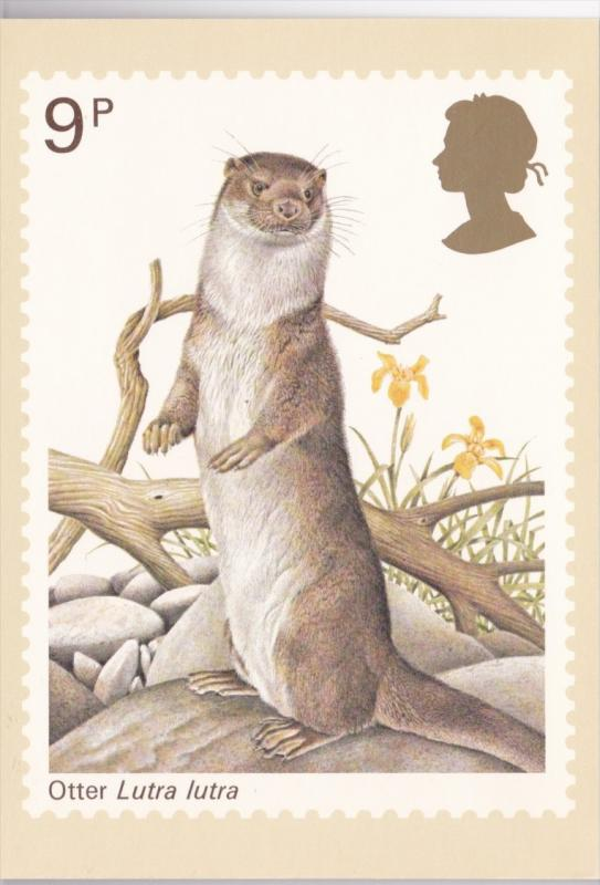 Stamps Of Great Britain Animals Otter Issued 5 October 1977