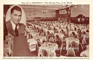 Jack Dempsey's Restaurant Madison Square Garden, NY, USA Unused