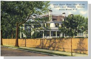 Rocky Mount, North Carolina/NC Postcard, Battle Home