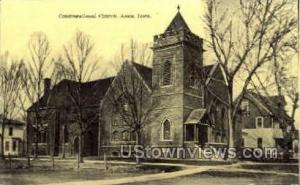 Congregational Church Ames IA Writing on back
