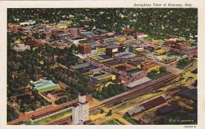 Aeroplane view of Kearney, Nebraska, 30-40s