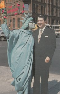 Statue of Liberty Woman & Ronald Reagan , 1980s
