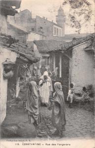 CONSTATINE ALGERIA AFRICA RUE des FORGERORS~IDEALE P S #115 POSTCARD c1910s