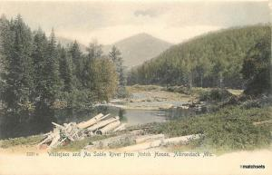 C-1905 Whiteface Au Sable River Notch Adirondack New York hand colored 12569
