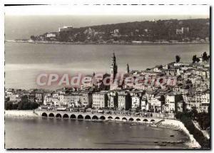 Modern Postcard La Cote D'Azur Menton Old City and Cap Martin