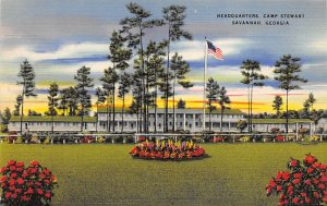 Military Post Card Headquarters at Camp Stewart Savannah, Georgia, USA Unused