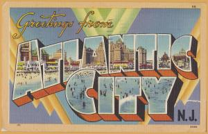 Large Letter-Greetings from Atlantic City, New Jersey - 1947