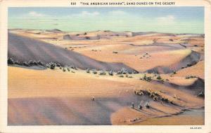 The American Sahara Sand Dunes on the Desert 1936