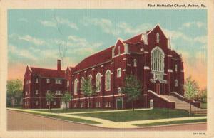 Postcard First Methodist Church Fulton Kentucky