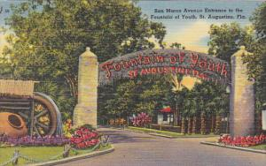San Marco Entrance To Fountain Of Youth St Augustine Florida