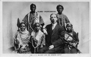 BLACK AMERICANA J.H. BALMER AND HIS SINGING BOYS PHOTO POSTCARD