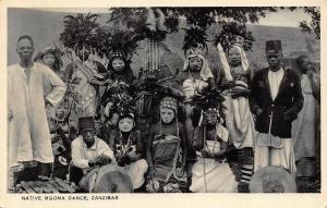 Tanzania Zanzibar Native Mgoma Dance Postcard