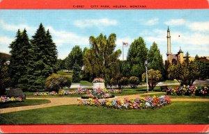 Montana Helena Scene In City Park