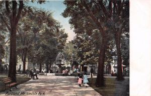 PORTLAND MAINE ABRAHAM LINCOLN PARK~LEIGHTON #2342 PUBL POSTCARD 1910s