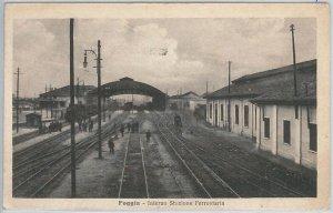 49753 CARTOLINA d'Epoca - FOGGIA : STAZIONE  FERROVIARIA trains - INTERNO 1918