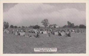 New Jersey Fort Dix Recruits Pitching Tents Dexter Press
