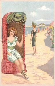 Vintage Swimwear, Swimming Suits, Seaside, Postcard