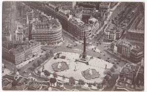 London, View Of Trafalgar Square From The Air PPC, Unposted, Early Aerial View