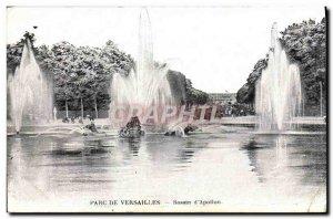 Old Postcard Park De Versailles Bassin D & # 39Apollon