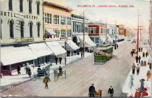 Willamette St. Looking South Eugene OR Oregon 1913 Postcard E41