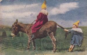 Humour Children With Donkey Patience Personified 1909