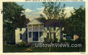 Birthplace of Will Rogers Claremore OK Unused