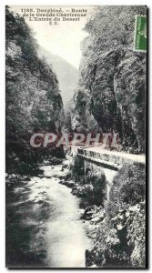 Old Postcard Dauphine Route Grande Chartreuse The Entree Desert