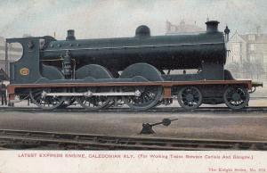 Caledonian Railway Latest Express Engine Carlisle Glasgow Old Train Postcard