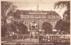 Denamrk Copenhagen Statue At Hotel D'Angleterre 1937