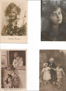 Victorian Style Portrait Children Theme Postcard Lot of 20 01.12