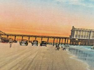 Postcard Beach View of Pier Casino at Daytona Beach in Florida.