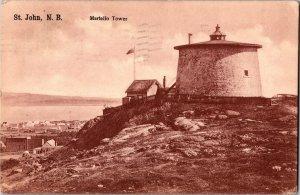 Martello Tower, St. John, New Brunswick c1907 Vintage Postcard Y15