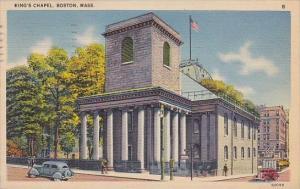 Massachusetts Boston kings Chapel 1940