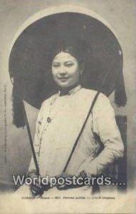 Hanoi, Femme Coiffee du grand Chapeau Tonkin Vietnam, Viet Nam Unused