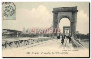 Old Postcard Perspective From Avignon Suspension Bridge