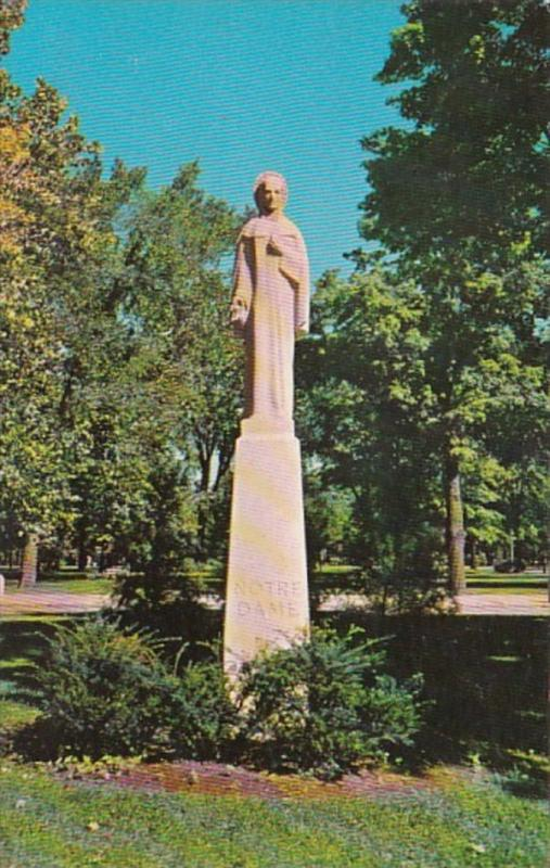 Indiana Notre Dame University Our Lady Statue