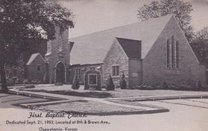 OSAWATOMIE, Kansas, 1910-1920s; First Baptist Church