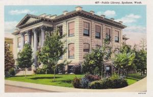 Exterior,  Public Library,  Spokane,  Washington,  00-10s