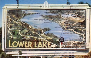 Maps Lower Lake, Clear Lake California, USA Unused