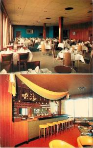 Moncton New Brunswick~Cy's Seafood Restaurant~Seahorse Lounge Bar Interior~1950s