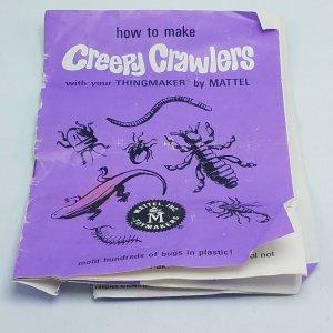 Vintage Creepy Crawlers Thingmaker Maker-Pak #1 Manual