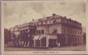 BEREA - BOONE TAVERN - B & W exterior view of building from the corner, 1920s