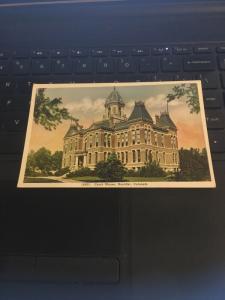 Vintage Postcard; Court House Boulder Colorado