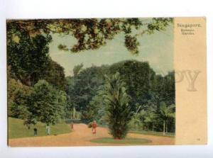 147143 SINGAPORE Botanic Garden Vintage undivided back pc