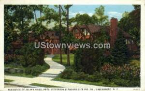 Residence of Julian Price Greensboro NC Unused