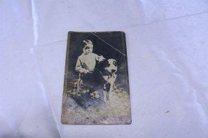 Vintage Postcard Photo Boy and His Dog