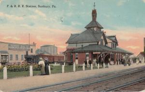 SUNBURY, Pa, 1908 ; Pennsylvania Railroad Train Depot