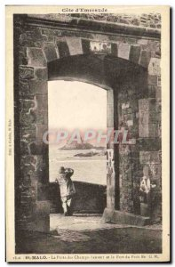 Postcard Old St Malo La Porte des Champs Vauvert and Fort Petit Be